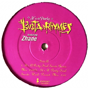 "Busta Rhymes ft Zhane - It's A Party (12"") (G+/NM)"